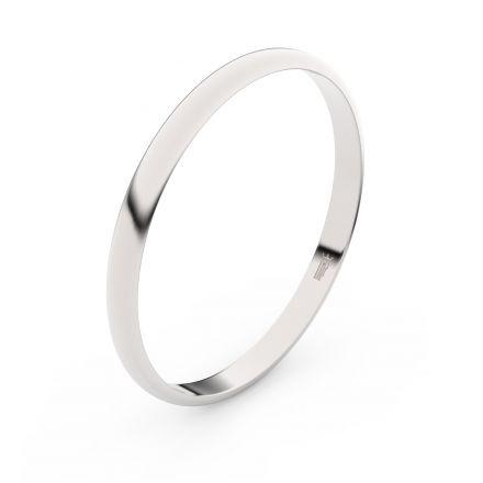 Zlatý snubní prsten FMR 4H20 z bílého zlata, bez kamene