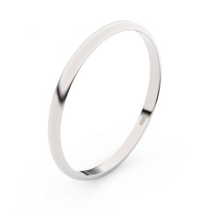 Zlatý snubní prsten FMR 4I17 z bílého zlata, bez kamene