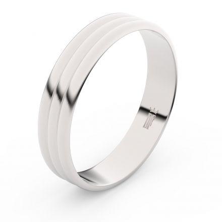 Zlatý snubní prsten FMR 4J47 z bílého zlata, bez kamene