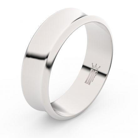 Zlatý snubní prsten FMR 5B70 z bílého zlata, bez kamene