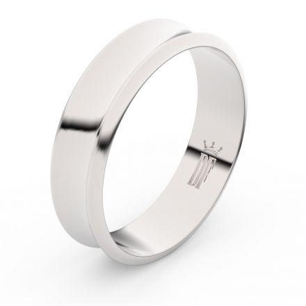 Zlatý snubní prsten FMR 5C57 z bílého zlata, bez kamene