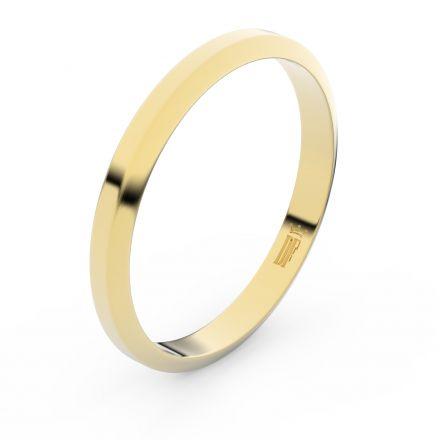 Zlatý snubní prsten FMR 6A30 ze žlutého zlata, bez kamene