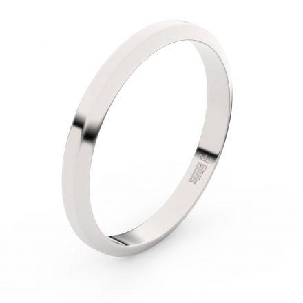 Zlatý snubní prsten FMR 6A30 z bílého zlata, bez kamene