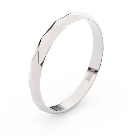 Zlatý snubní prsten FMR 830 z bílého zlata, bez kamene