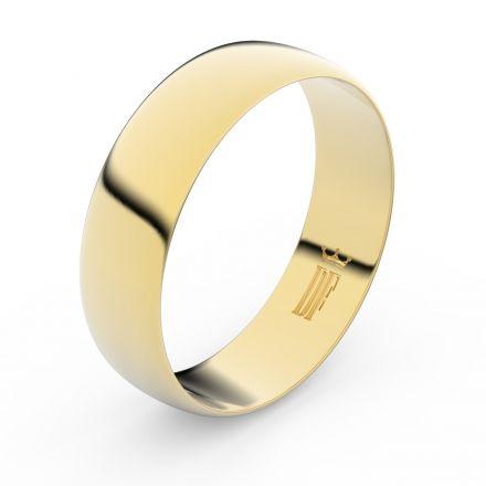 Zlatý snubní prsten FMR 9A60 ze žlutého zlata, bez kamene