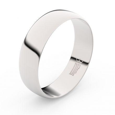 Zlatý snubní prsten FMR 9A60 z bílého zlata, bez kamene