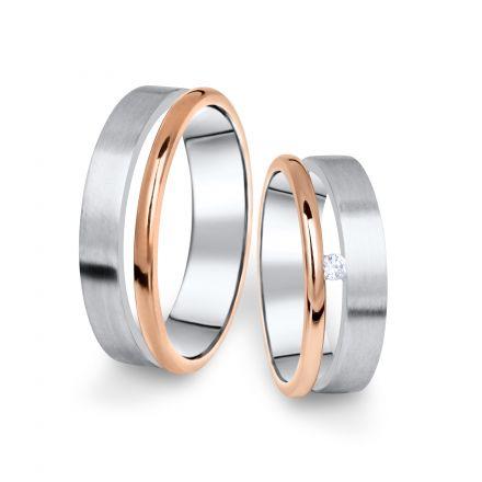 Zlatý dámský prsten DF 11/D, s briliantem