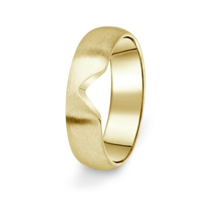 Prsten Danfil DF03/P žluté zlato 585/1000 bez kamene, povrch brus