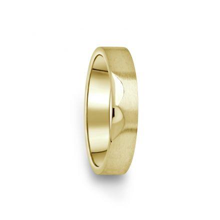 Prsten Danfil DF15/D žluté zlato 585/1000 bez kamene, povrch brus