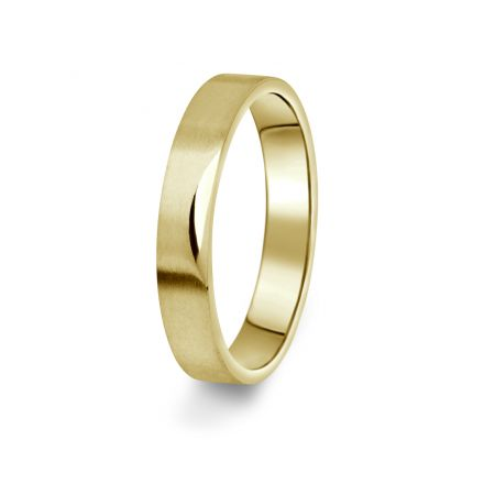 Prsten Danfil DF15/P žluté zlato 585/1000 bez kamene, povrch brus