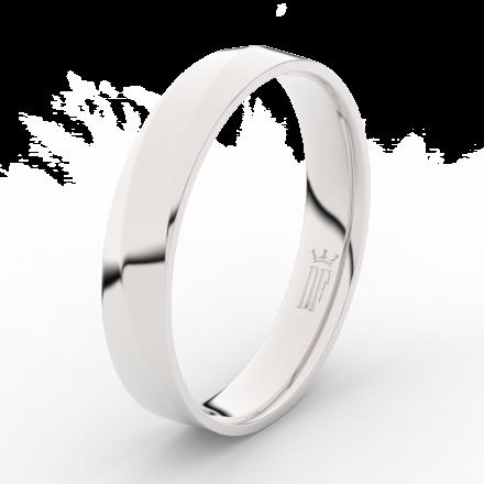 Prsten Danfil DLR3026 Stříbro 925/1000 (povrch bílé rhodium snow white) bez kamene povrch lesk