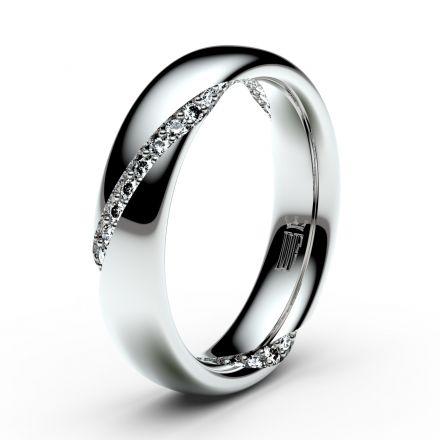 Prsten Danfil DLR3028 Stříbro 925/1000 (povrch bílé rhodium snow white) se zirkonem (White) povrch l