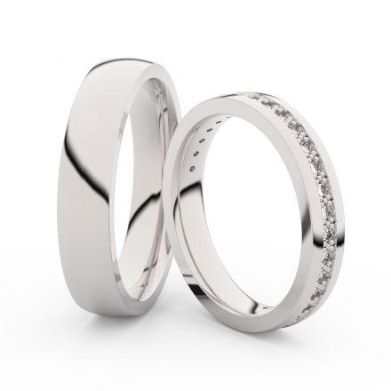 Snubní prsteny z bílého zlata s brilianty, pár - 3897