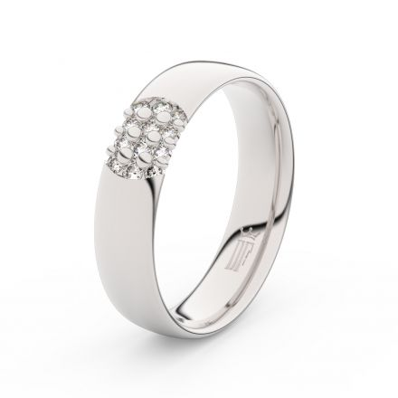 Stříbrný dámský prsten DF 3021 , s briliantem