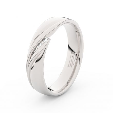 Stříbrný dámský prsten DF 3044 , s briliantem