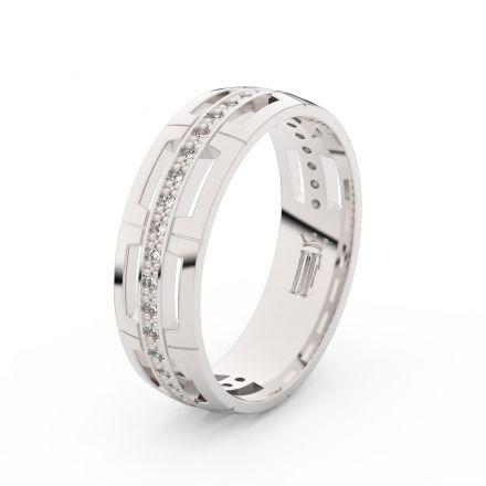 Stříbrný dámský prsten DF 3048 , s brilianty