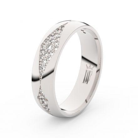 Stříbrný dámský prsten DF 3074 , s briliantem