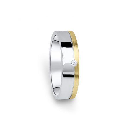 Zlatý dámský prsten DF 05/D, s briliantem