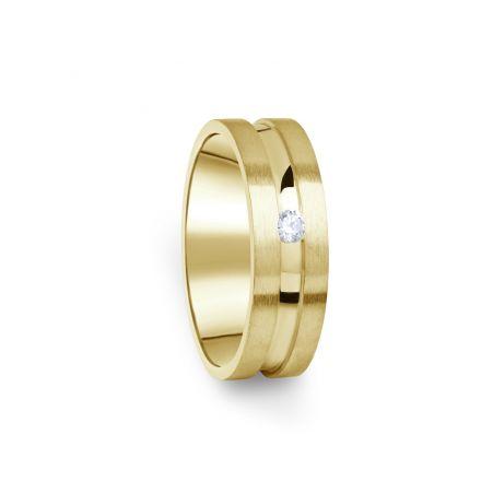 Zlatý dámský prsten DF 08/D ze žlutého zlata, s briliantem