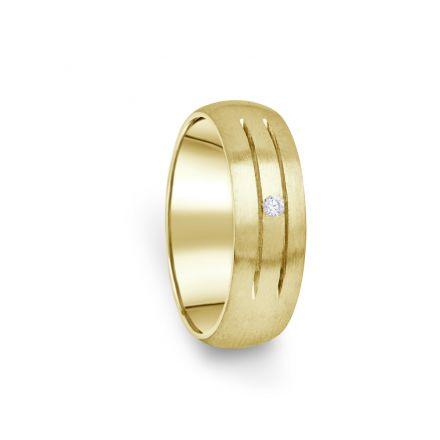 Zlatý dámský prsten DF 13/D ze žlutého zlata, s briliantem