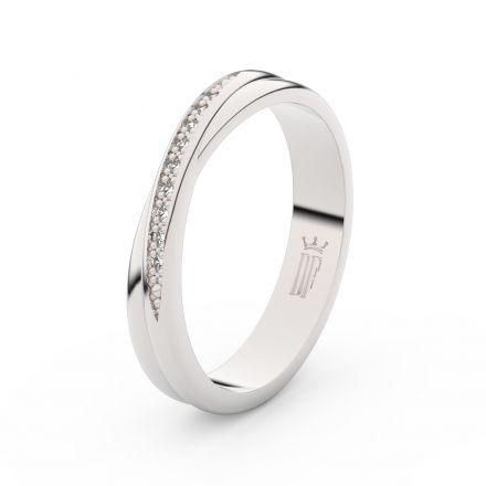 Zlatý dámský prsten DF 3019 z bílého zlata, s brilianty