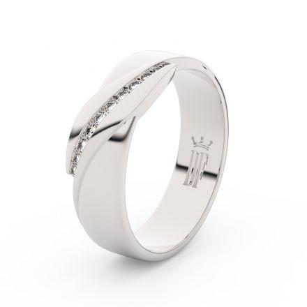 Zlatý dámský prsten DF 3039 z bílého zlata, s brilianty