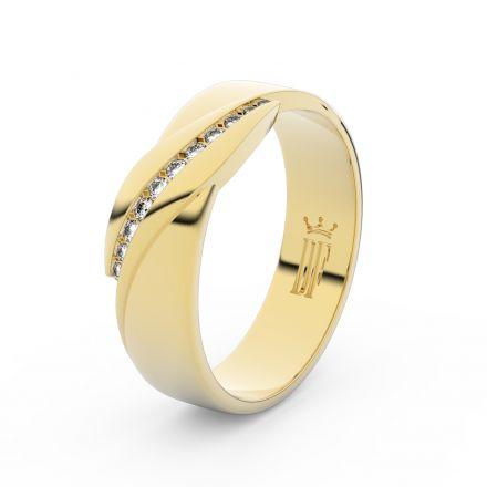 Zlatý dámský prsten DF 3039 ze žlutého zlata, s brilianty