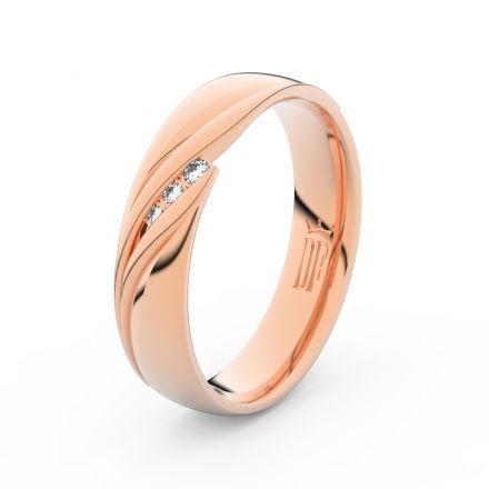 Zlatý dámský prsten DF 3044 z růžového zlata, s briliantem