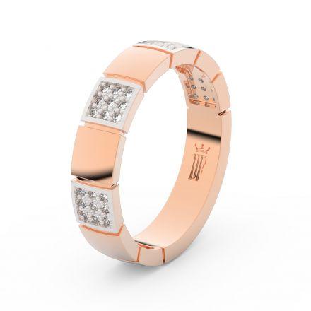 Zlatý dámský prsten DF 3057 z růžového zlata, s briliantem