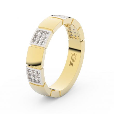 Zlatý dámský prsten DF 3057 ze žlutého zlata, s briliantem