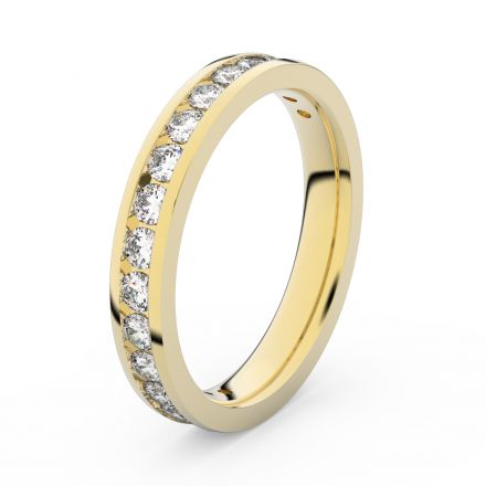 Zlatý dámský prsten DF 3894 ze žlutého zlata, s brilianty