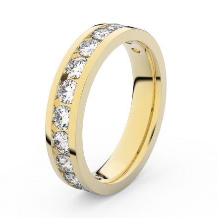 Zlatý dámský prsten DF 3895 ze žlutého zlata, s brilianty