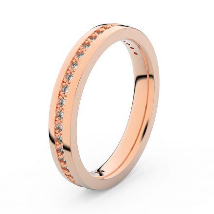 Zlatý dámský prsten DF 3896 z růžového zlata, s briliantem