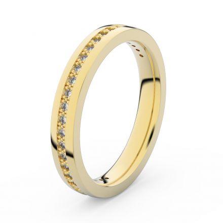 Zlatý dámský prsten DF 3896 ze žlutého zlata, s briliantem