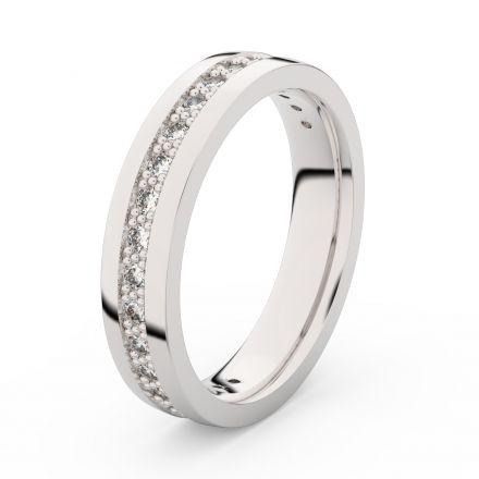 Zlatý dámský prsten DF 3898 z bílého zlata, s briliantem