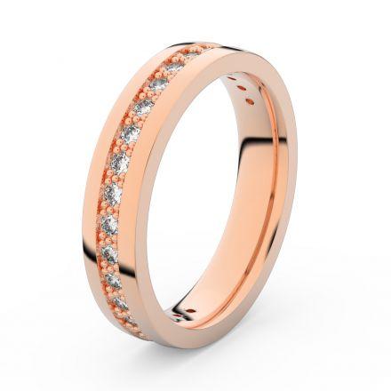 Zlatý dámský prsten DF 3898 z růžového zlata, s briliantem