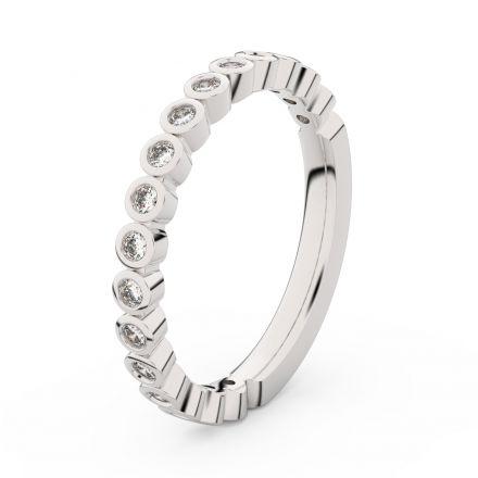 Zlatý dámský prsten DF 3899 z bílého zlata, s briliantem