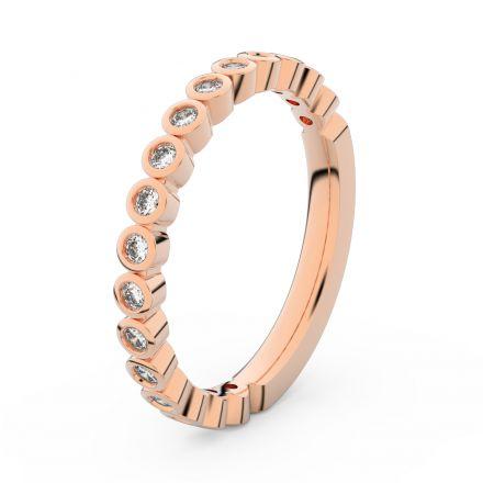 Zlatý dámský prsten DF 3899 z růžového zlata, s briliantem