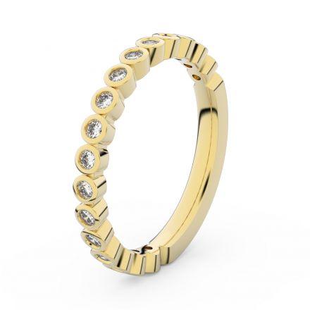 Zlatý dámský prsten DF 3899 ze žlutého zlata, s briliantem