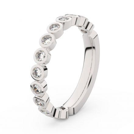Zlatý dámský prsten DF 3900 z bílého zlata, s briliantem