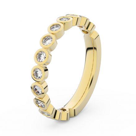 Zlatý dámský prsten DF 3900 ze žlutého zlata, s briliantem