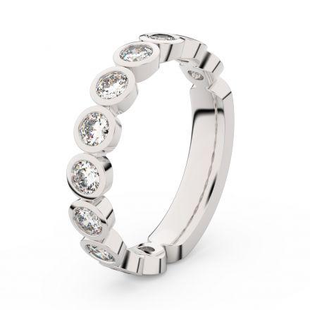 Zlatý dámský prsten DF 3901 z bílého zlata, s briliantem