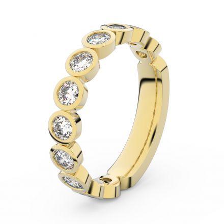 Zlatý dámský prsten DF 3901 ze žlutého zlata, s briliantem