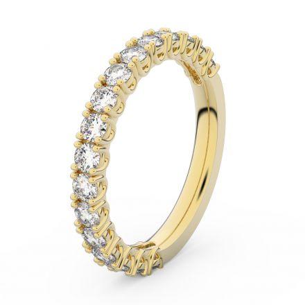 Zlatý dámský prsten DF 3903 ze žlutého zlata, s briliantem