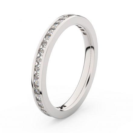 Zlatý dámský prsten DF 3906 z bílého zlata, s briliantem