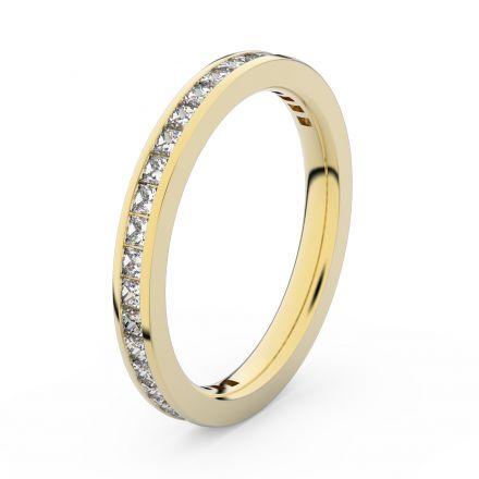 Zlatý dámský prsten DF 3906 ze žlutého zlata, s briliantem