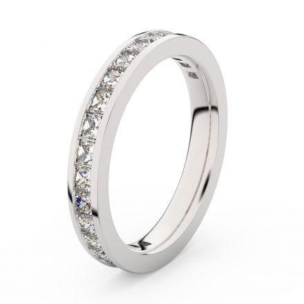 Zlatý dámský prsten DF 3907 z bílého zlata, s briliantem