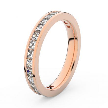 Zlatý dámský prsten DF 3907 z růžového zlata, s briliantem