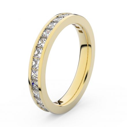 Zlatý dámský prsten DF 3907 ze žlutého zlata, s briliantem