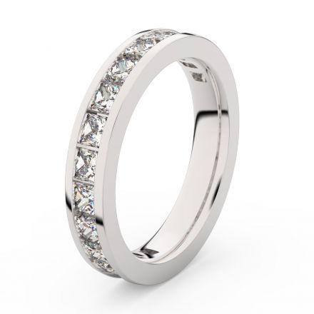 Zlatý dámský prsten DF 3908 z bílého zlata, s briliantem